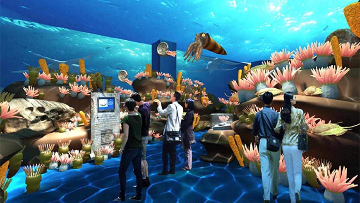 天全安全体验海底探秘互动感应投影