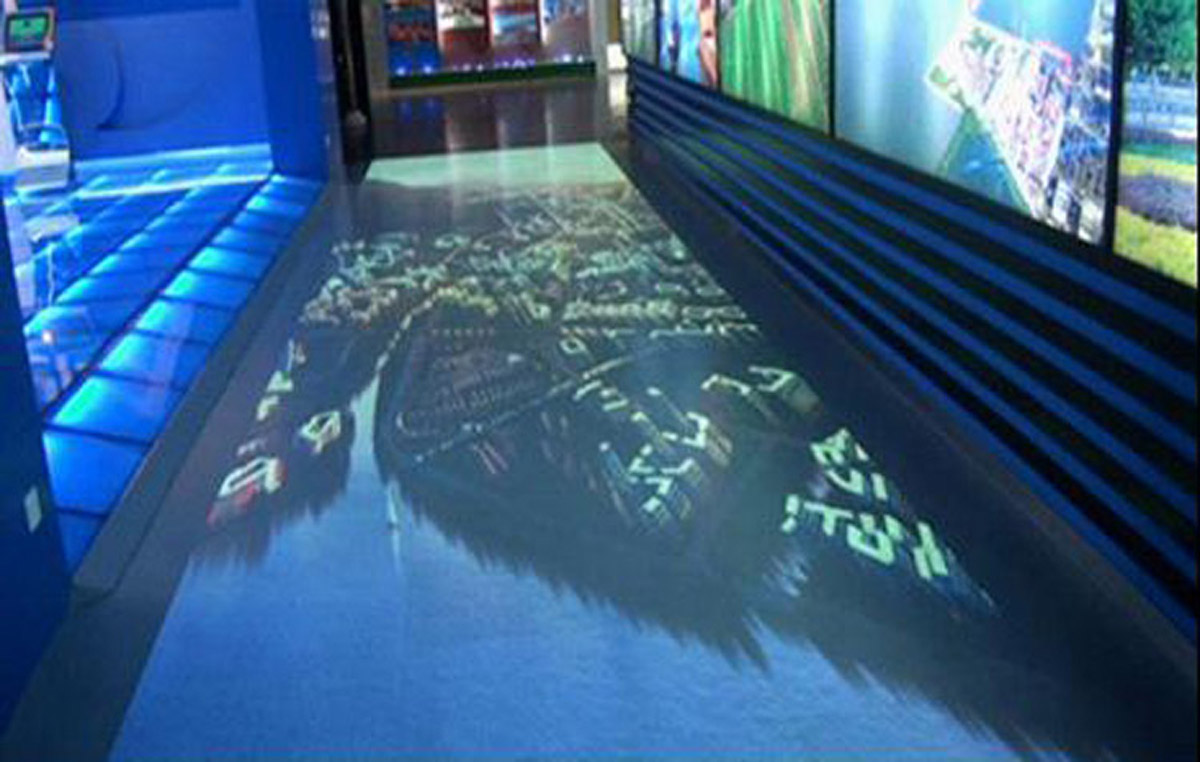偏关安全体验地面互动感应投影系统