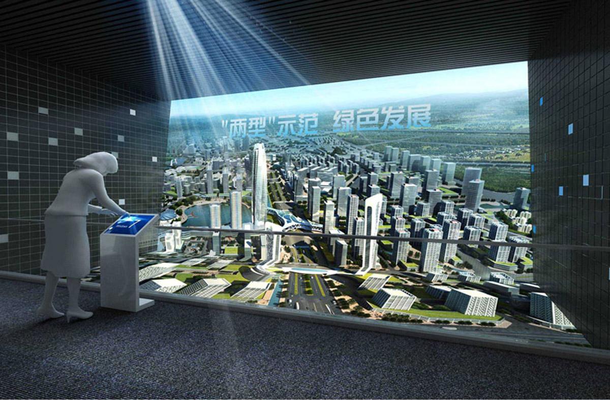 乡城安全体验城市规划电子数字沙盘