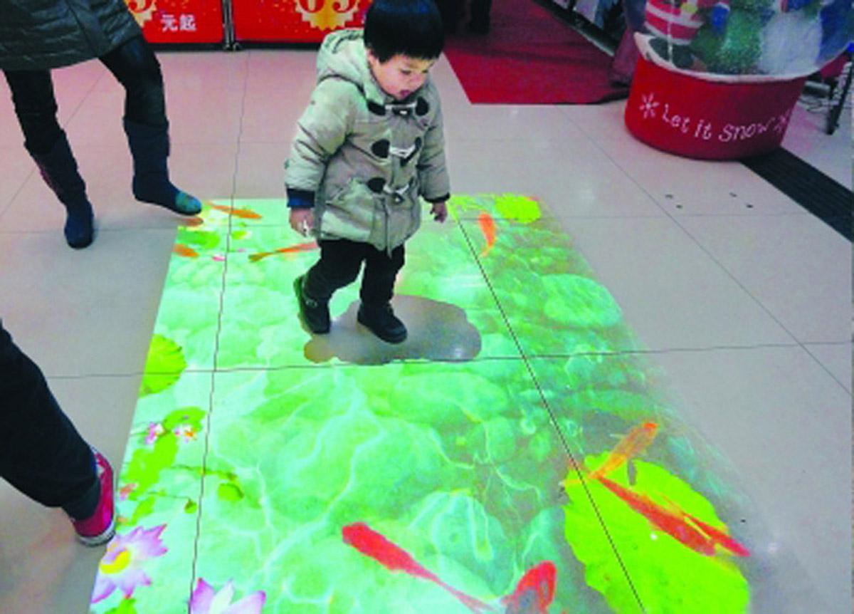 赵县安全体验互动鱼水投影