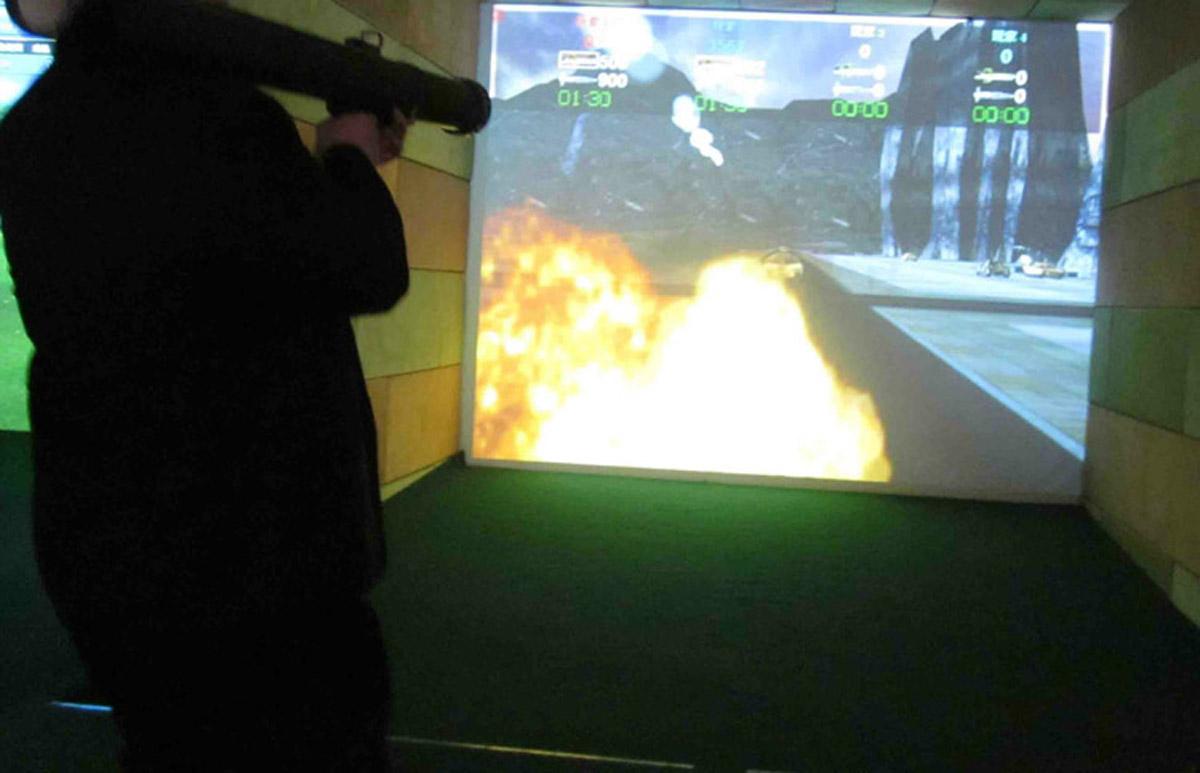 广阳安全体验模拟火箭筒