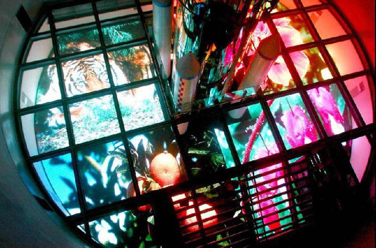 广元安全体验LED点阵地幕