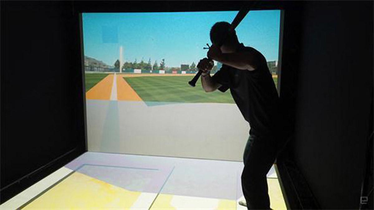 安全体验虚拟棒球投掷体验