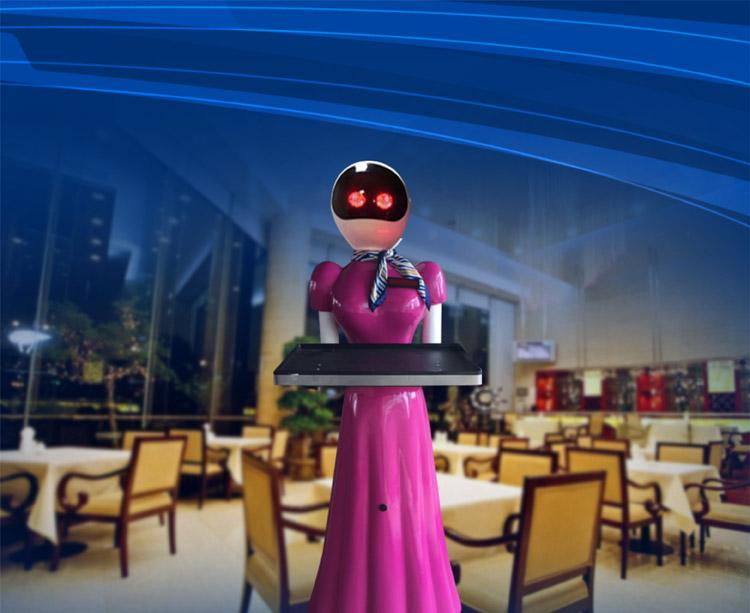 绵竹安全体验送餐机器人