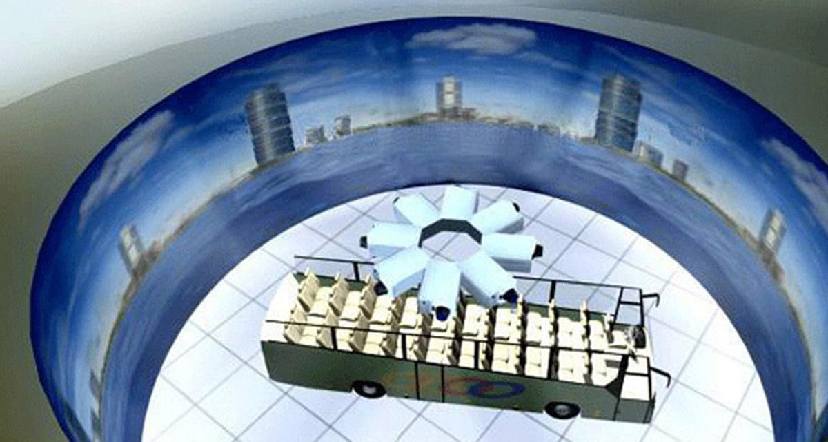 涿鹿安全体验120~360度环幕3D立体展示系统