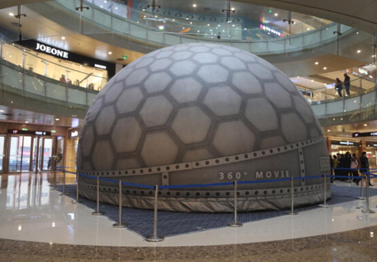 蓬溪安全体验沉浸式360球幕系统