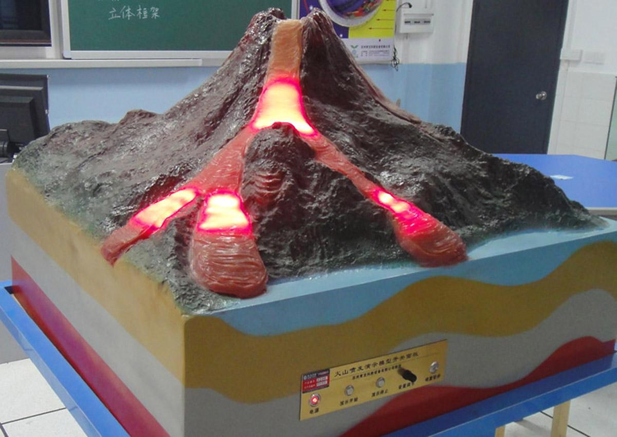 安国安全体验火山喷发模拟
