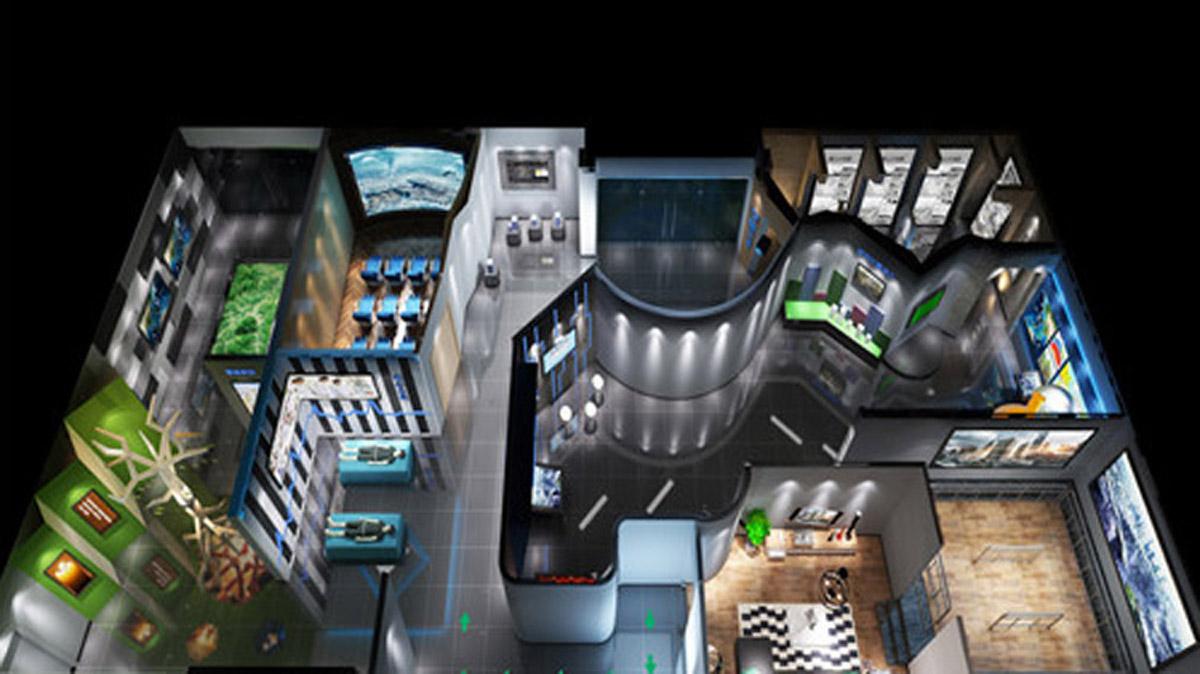 安全体验地震科普馆整体设计