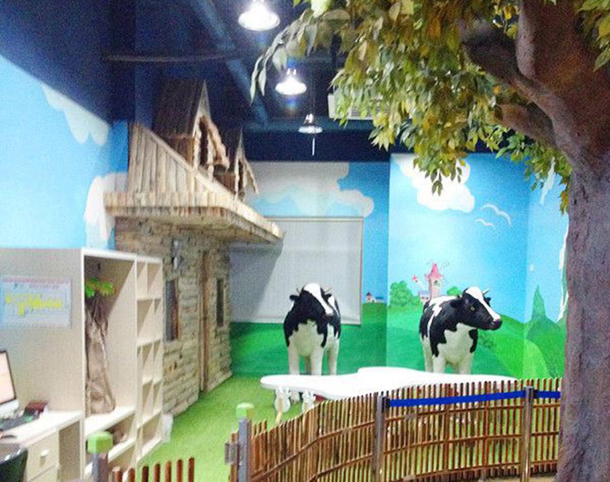 平遥安全体验儿童体验馆专用仿真奶牛