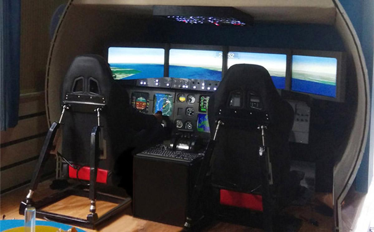 安次安全体验空客飞行模拟器