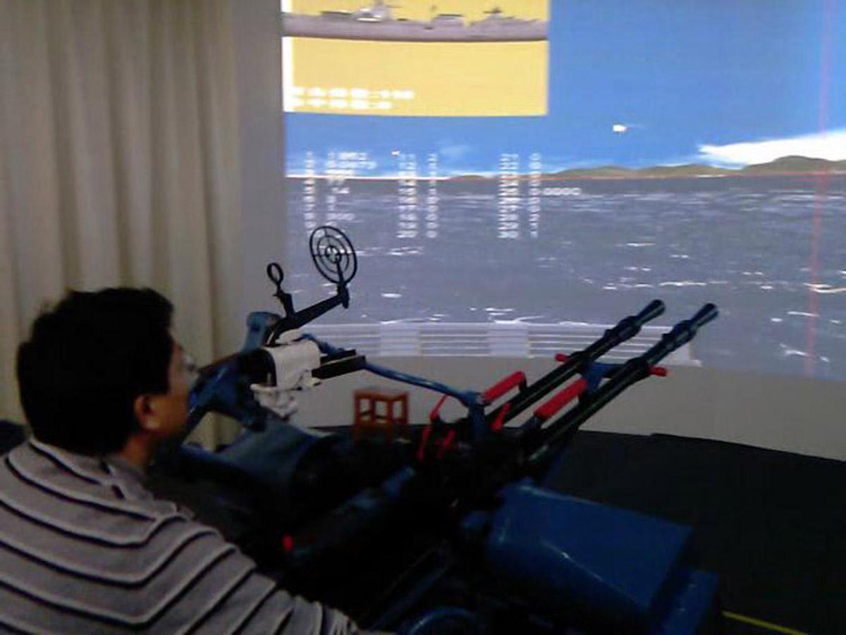 广平安全体验舰载高机训练系统