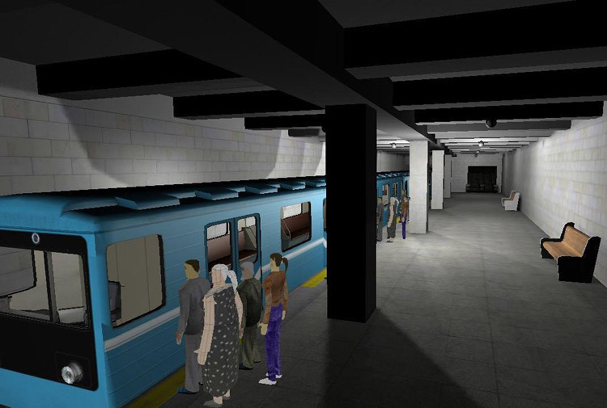 安全体验虚拟动车地铁