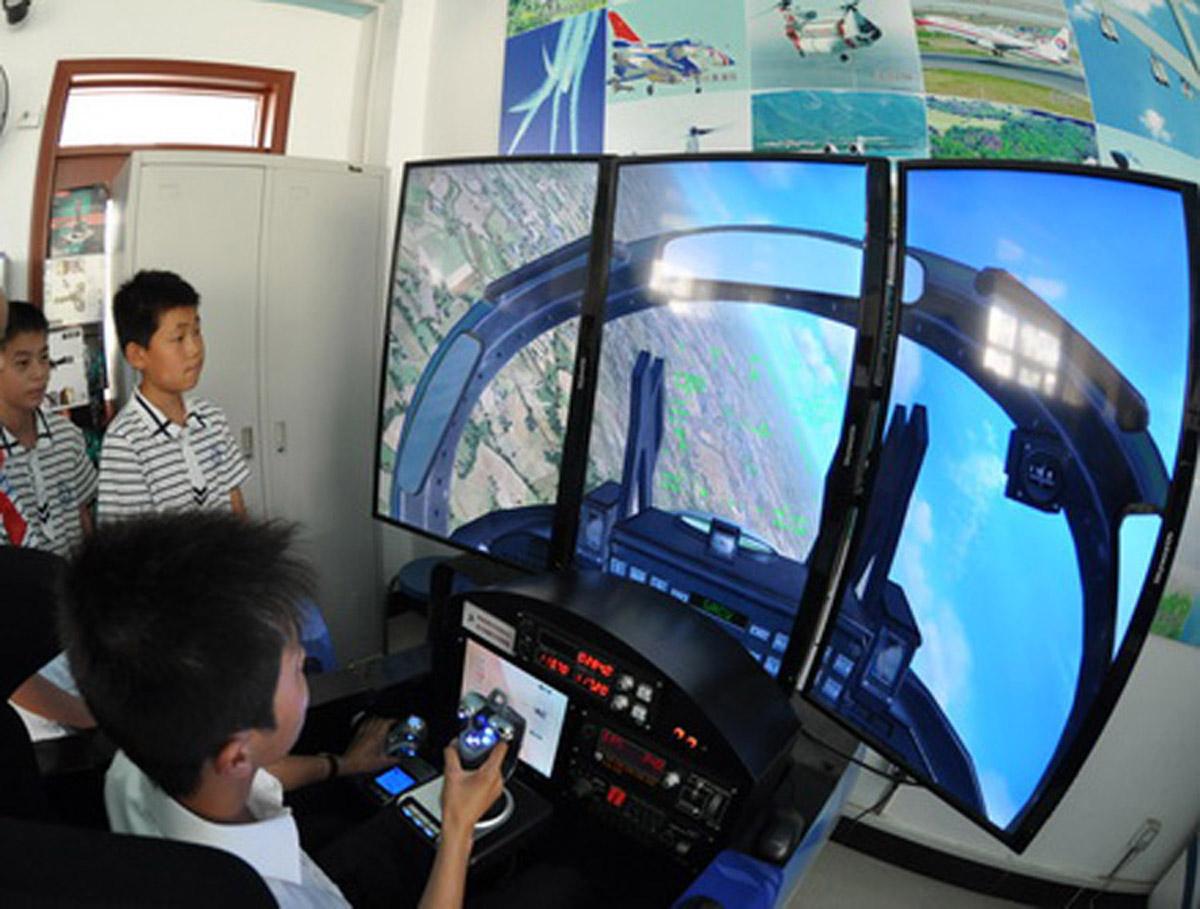 成安安全体验虚拟飞行