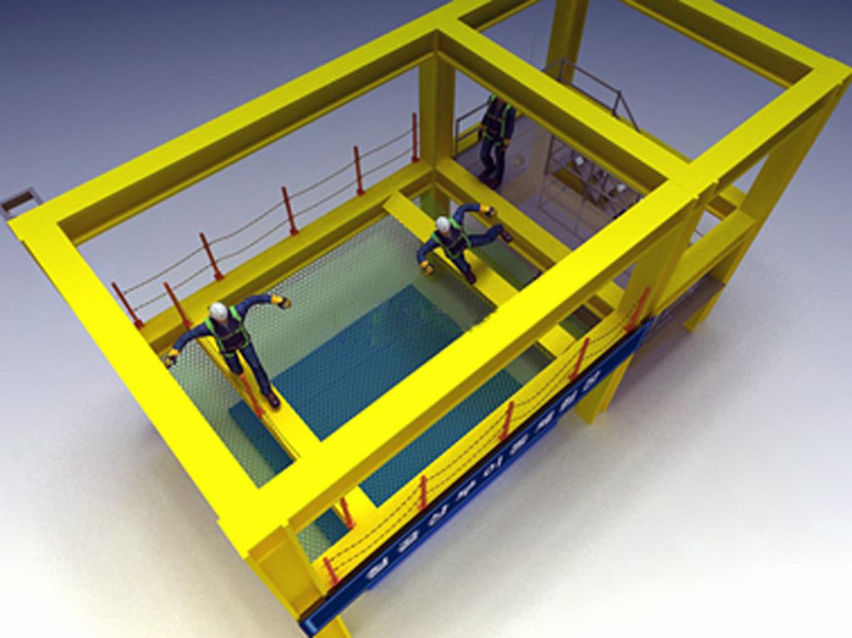 运河安全体验钢结构架上部移动体验