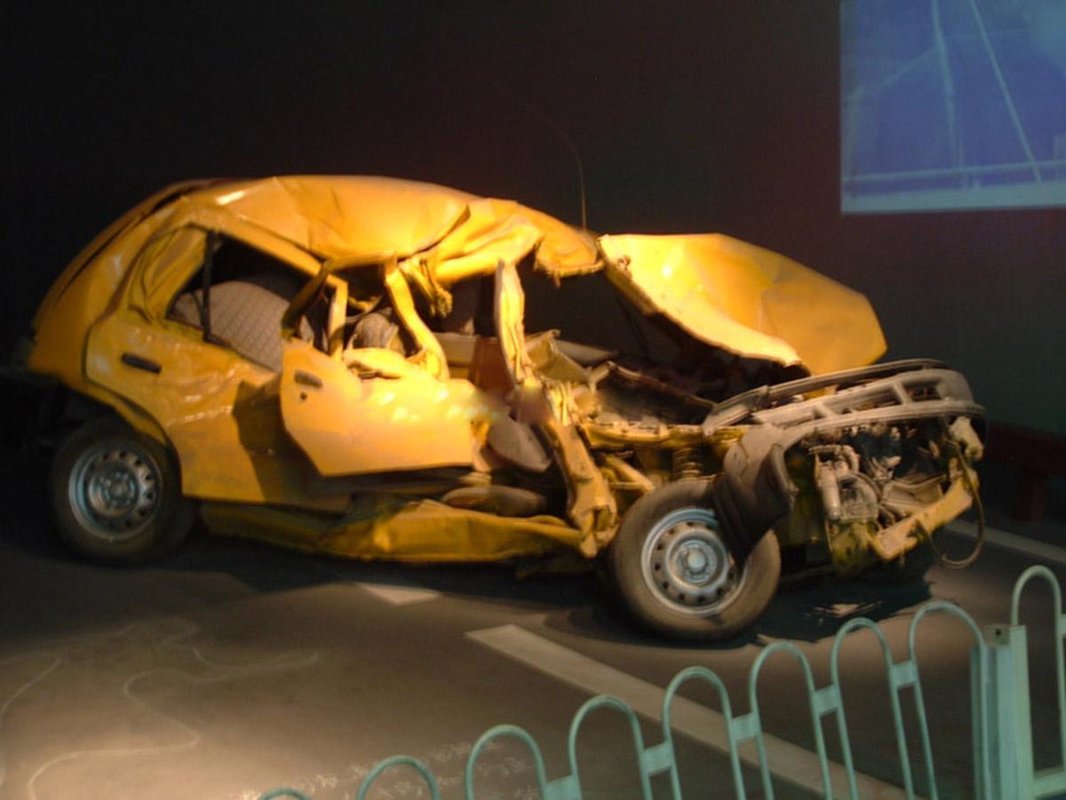 黑水安全体验车祸现场
