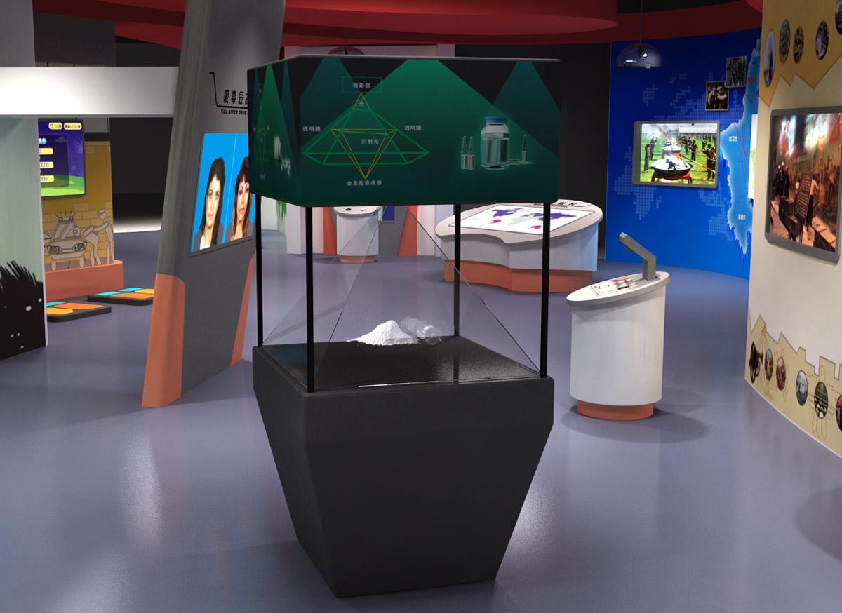 红原安全体验禁毒3D全息展示系统