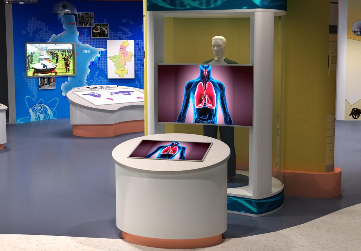 高平安全体验禁毒AR模拟血液循环系统