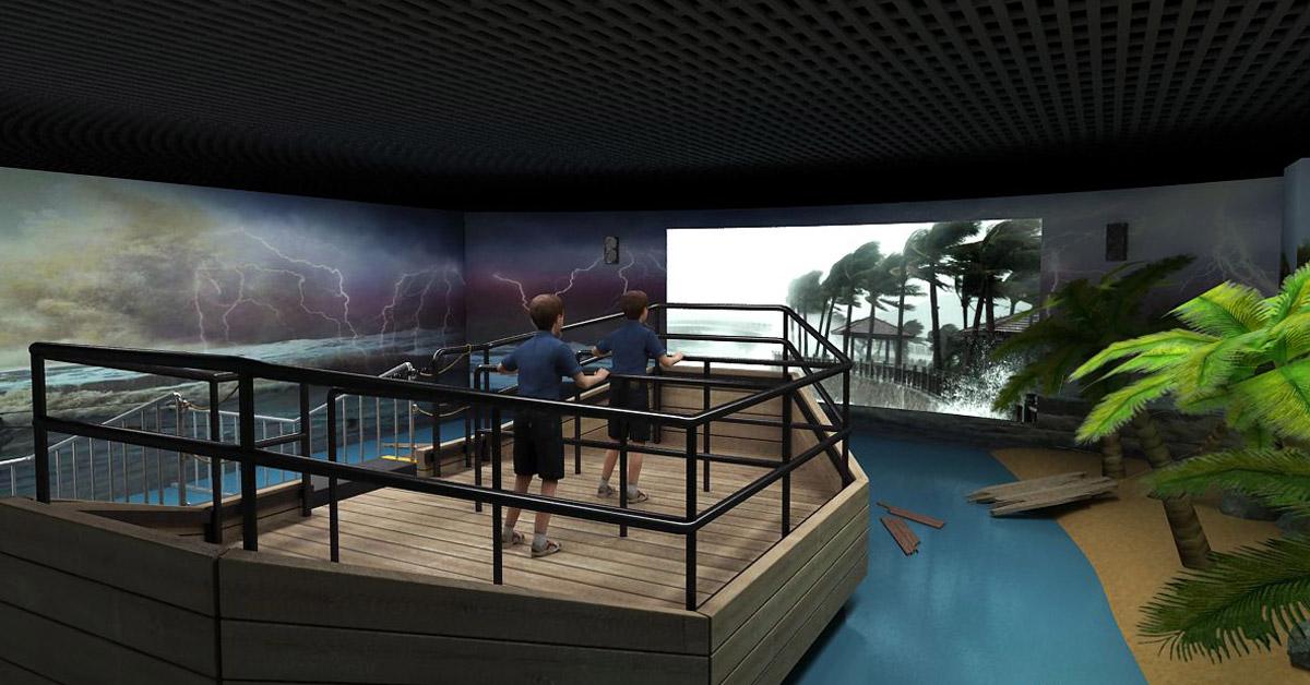围场安全体验模拟台风及暴风雨设备