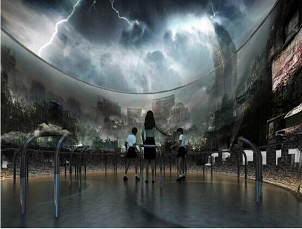 杨浦安全体验模拟台风体验设备