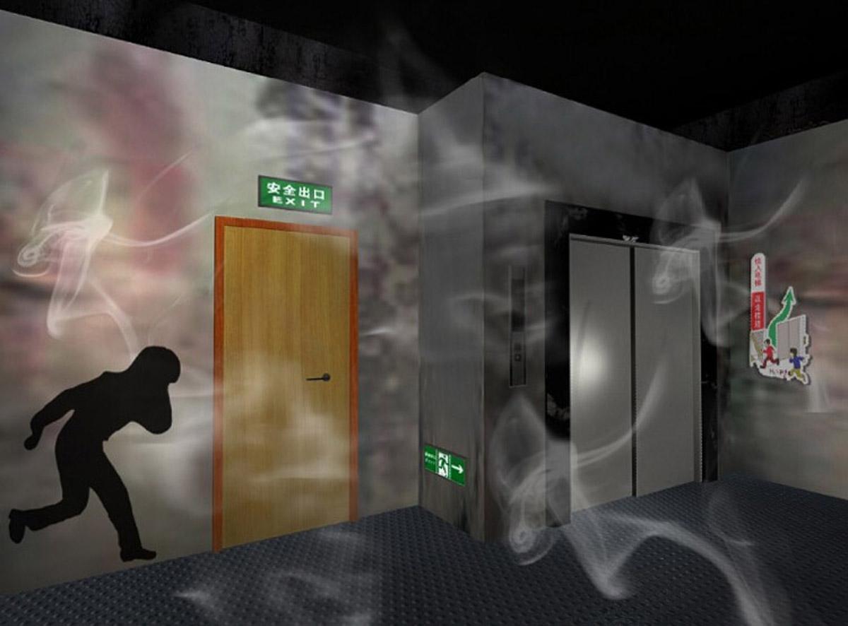 江津安全体验烟雾逃生走廊