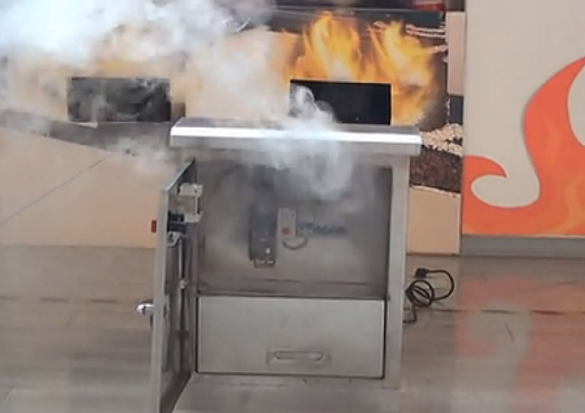 盐边安全体验电器火灾灭火演练装置