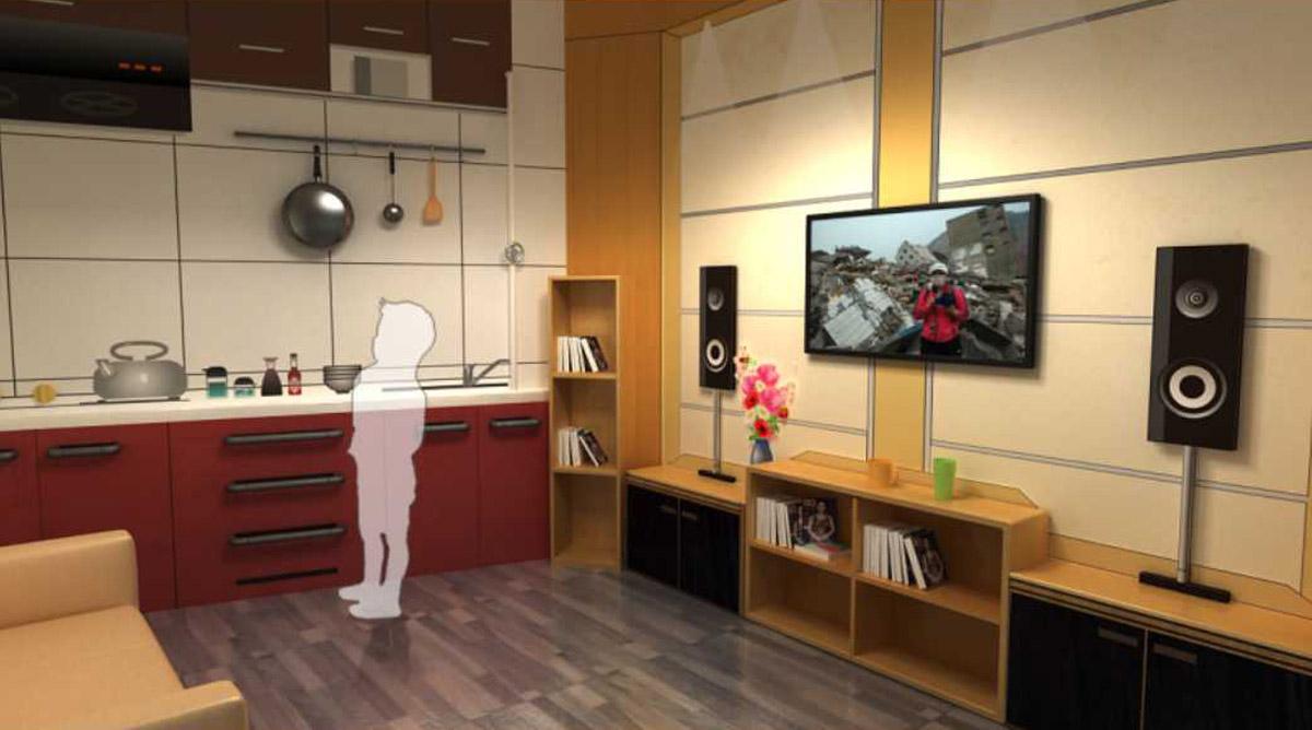 赤城安全体验模拟厨房灭火