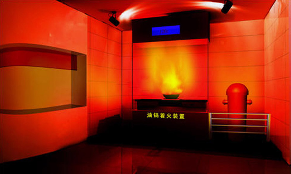 云南安全体验模拟油锅起火